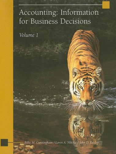 Accounting: Information for Business Decisions, Volume 1