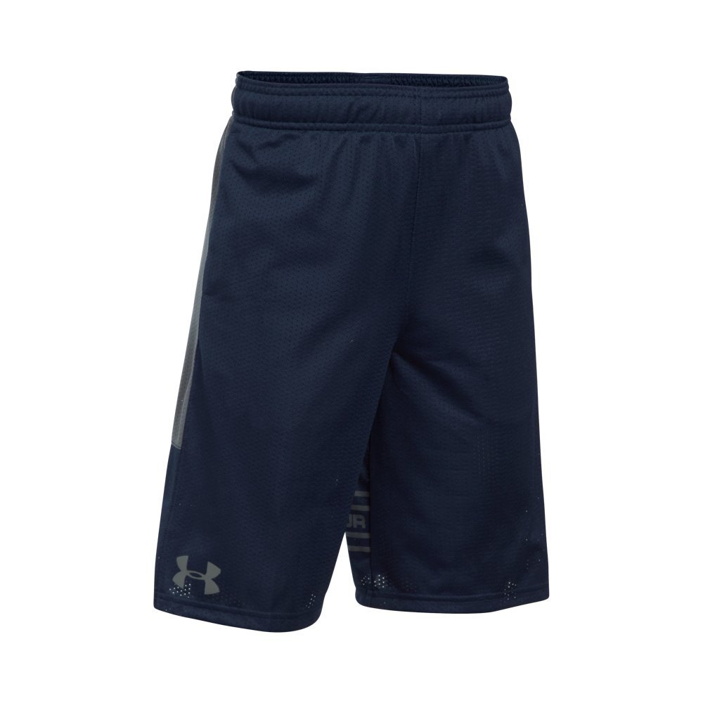Under Armour Boys' Train To Game Shorts,Midnight Navy (410)/Graphite, Youth X-Small