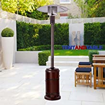 40K BTU Propane-Powered Bronze Finish Stainless Steel High-Power Outdoor Courtyard Patio Outdoor Heater with 8-Foot Radius Heat Coverage