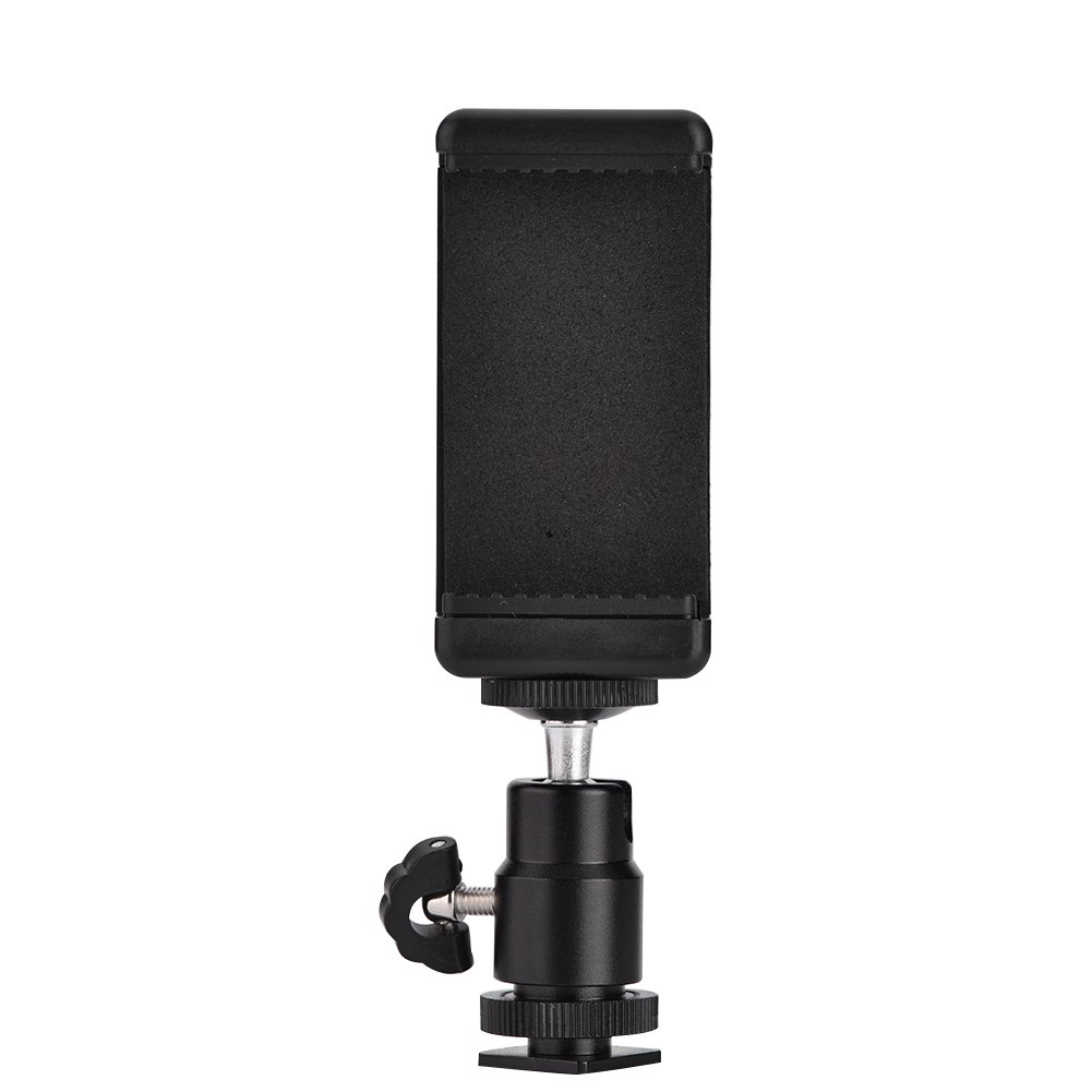 Clip Phone Mount, Asixx Phone Bracket Holder Clip Tripod Mount Adapter with 360 Ball Head Compatible with Multiple Accessories, Flashlight, Tripod, Handle Grip for iPhone Samsung