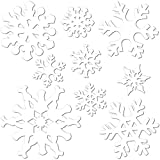 Beistle 9-Pack Snowflake Cutouts for Parties, Assorted