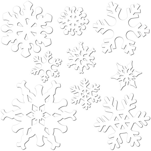 Beistle 9-Pack Snowflake Cutouts for Parties, -