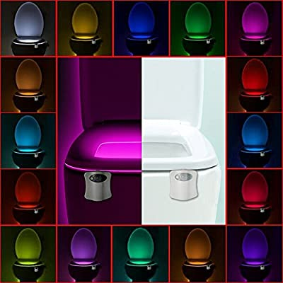 Toilet Night Light, Motion Activated 16-Color Changing Toilet Bowl Night Light by The Original LightBowl