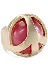 Low Luv by Erin Wasson Peace Cage Red Cat Eye Stone Ring
