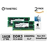 Timetec Hynix IC Apple 16GB Kit (2x8GB) DDR3 PC3-8500 1066MHz memory upgrade for iMac 27-inch Late 2009, Mac Mini Mid 2010 Server, Mac Mini Mid 2010, MacBook Pro 13-inch Mid 2010 and more
