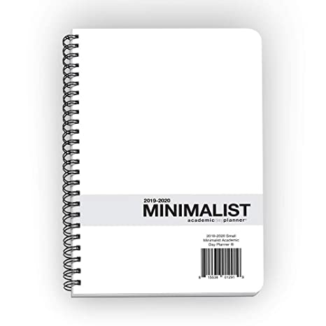 Action Publishing · Minimalist Student Planner · Dated Weekly and Monthly Agenda for Academic Year 2019-2020 · Medium (5.5 x 8.5 inches)