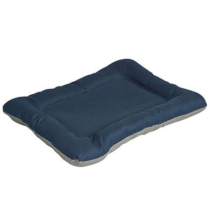 JEELINBORE Reversible Estera de Cojín para Mascotas Suave Acogedor Colchon Perros y Gatos (Azul,