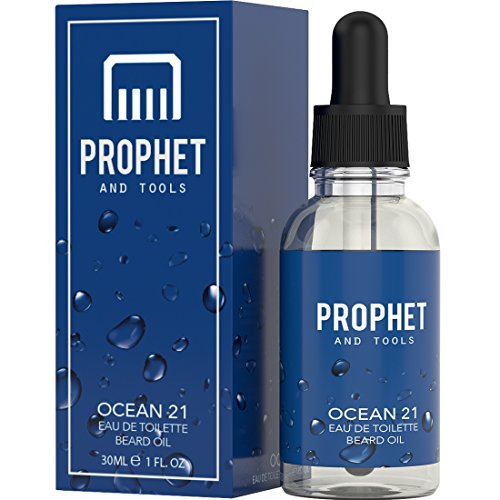 Prophet and Tools Ocean 21 Beard Oil - Fresh Cooling Fragrant - The All-In-One Softener, Shine, Growth and Keeps Hairs Clean - Vegan and - Ocean Mall