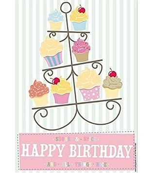 Todas las cosas bonito cumpleaños cartel - A3: Amazon.es ...