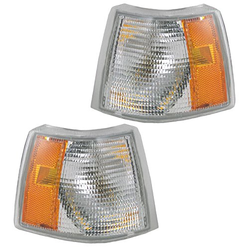 850 Lamp Volvo - Corner Side Marker Turn Signal Parking Light Lamp Pair Set for 94-97 Volvo 850
