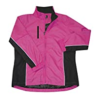 The Weather Apparel Co Microfiber Golf Jacket 2017 Women Pink/Black X-Small