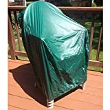 RoadHouse BBQ 35-inch Vinyl Waterproof Durable Outdoor Patio Chair Cover, Green