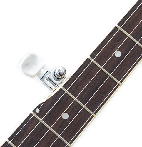 5 String Resonator Banjo with 24 Brackets | Closed Back and Geared 5th Tuner | Resoluute - Image 2