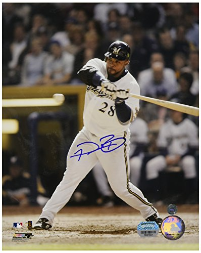 MLB Milwaukee Brewers Prince Fielder Batting Vertical Photograph, 8x10-Inch