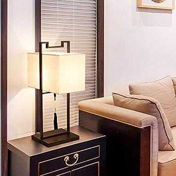 QINCH Home Lampe De Table Simple Chambre à Coucher Moderne Rétro Lampe De  Chevet Zen Salon