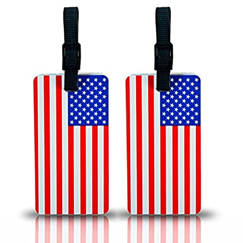 ICE USA 2-Piece Set Luggage Tag Duffle Bag Tags Label Accessories European Canadian American (USA) - En Route Luggage Tag
