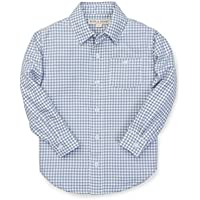Hope & Henry Boys' Brushed Cotton Button Down Top Made with Organic Cotton