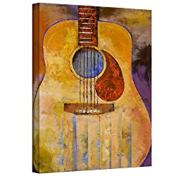 Art Wall Acoustic Guitar Gallery Wrapped Canvas Art By Michael Creese, 32 By 24-inch