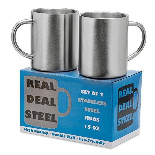 metal coffee mug set - 2