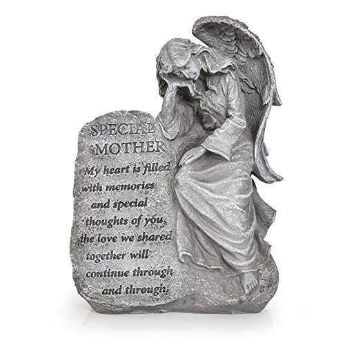 Besti Garden Memorial Stone Angels - Special Mother Stone Angel with Inspirational Quote ()