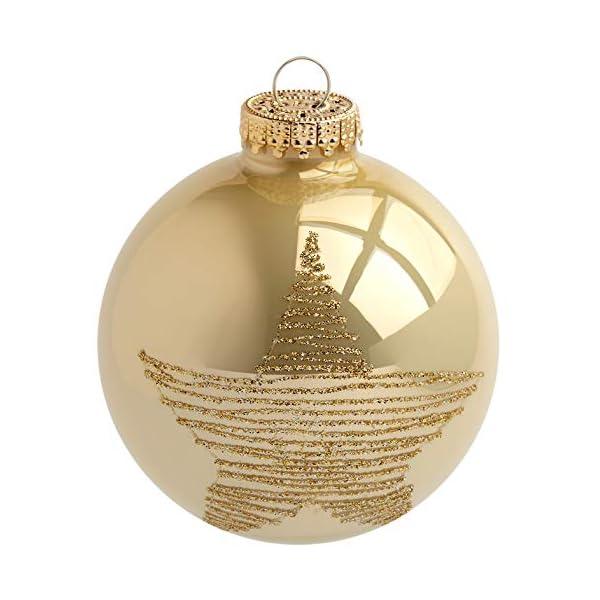 Heitmann Deco Krebs & Sohn Set di 20 Palline di Natale in Vetro - Albero di Natale Deco Appeso - Palle di Natale 5,7 cm - Oro Avorio 2 spesavip