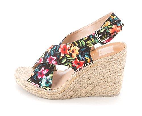 Dolce Vita Vrouwen Sovay Stof Peep Toe Speciale Gelegenheid Platform Sandalen Tropische Bloemen Canvas