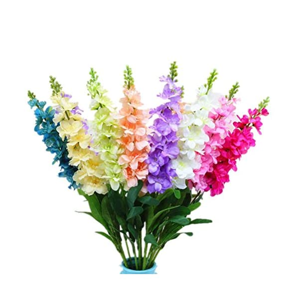 ADIASEN Mix Color 10-pieces Creative Artificial Flowers Plant Fake Floral Decor Office Home Violet Hyacinth