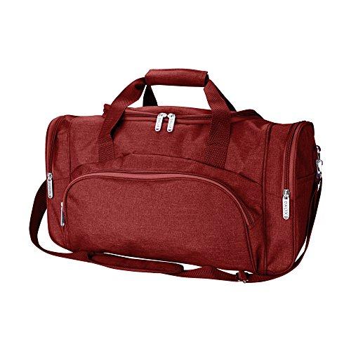 DALIX Signature Travel Gym Duffle Bag in Maroon ()