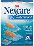Nexcare Waterproof Clear Bandage, Assorted Sizes, 20 ct Packages (Pack of 4)