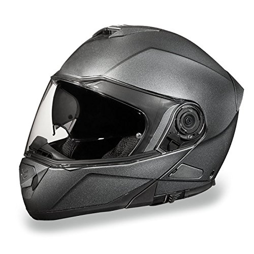 Gray Motorcycle Helmet (Gun Metal Gray Bluetooth Modular Motorcycle Helmet (Size 4XL, XX-Large))