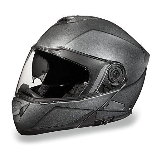 Gun Metal Gray Bluetooth Ready Modular Motorcycle Helmet (Size 4XL, XX-Large)