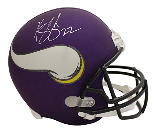 Harrison Smith Autographed/Signed Minnesota Vikings Replica Helmet BAS ()