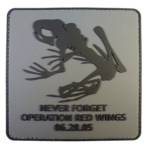 Operation Patches (ACU Subdued Operation Red Wings Night Stalkers PVC 3D Rubber Fastener Patch)