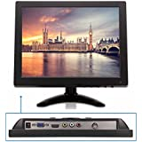 TPEKKA 10' Inch HD 1024x768 CCTV Monitor Portable TFT LCD Security Monitor Display with BNC HDMI VGA AV Input for PC Computer Video Screen FPV DVR Monitors CCTV Cam Car System Home Office Surveillance