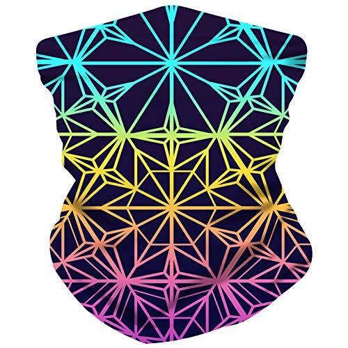 Electrik Unicorn Infinity Face Mask Bandana for Festivals, Raves, Dust - Seamless One ()