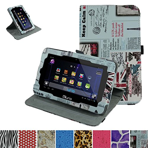 Kurio Xtreme 2 Rotating Case,Mama Mouth 360 Degree Rotary Stand With Cute Lovely Pattern Cover For 7