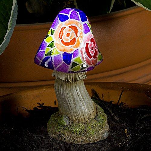 Mushroom Flowers Solar Garden Light