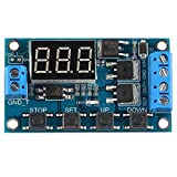 WINGONEER Trigger Cycle Timer Delay Switch Circuit Dual MOS Tube Control Board DC 24V/12V Replacing Relay Module