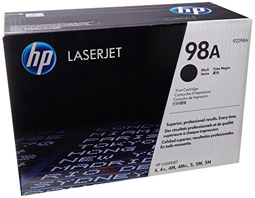HP 98A (92298A) Black Original LaserJet Toner Cartridge DISCONTINUED BY MANUFACTURER