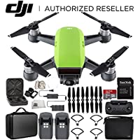 DJI Spark Portable Mini Drone Quadcopter Fly More Combo Portable Bag Shoulder Travel Case Bundle (Meadow Green)
