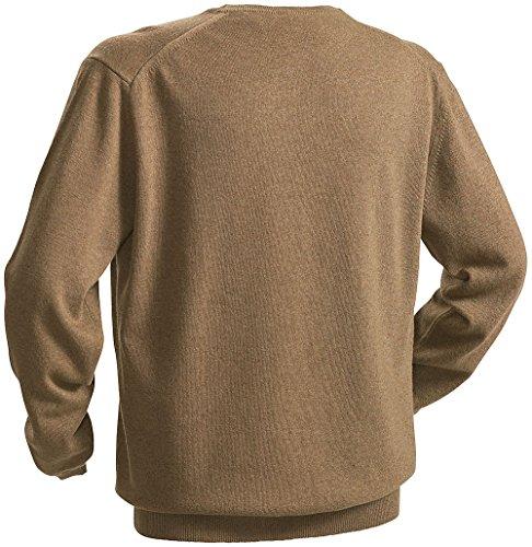 Royal Spencer Pullover, Herren Rundhals-Sweatshirt aus edlen Naturfasern, Merinowolle, Viskose und Kaschmiranteil (Größen: M - XXL, Farbe: Nuss-Braun)