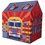Charles Bentley Children's Fire Station Play Tent Wendy House Fireman Firefighter Playhouse Den Indoor Outdoor Use