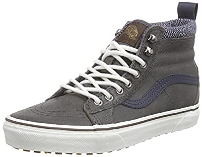 Vans Men's Sk8-Hi MTE Sneaker (7 D(M) US, Charcoal/Herringbone)