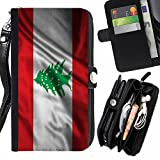 FJCases Lebanon Lebanese Waving Flag Car