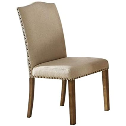 Amazing Amazon Com Benzara Bm186182 Fabric Upholstered Wooden Side Machost Co Dining Chair Design Ideas Machostcouk
