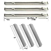 Repair Kit For Charbroil 463261709 Precision Flame Infrared 3 Burner BBQ Gas Grill Includes 3 Stainless Steel Burners and 3 Stainless Steel Heat Plates