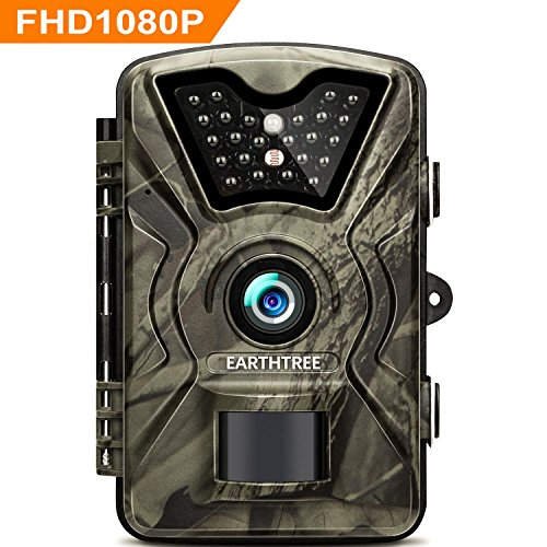 Earthtree Trail Game Camera FHD 1080P Deer Hunting Camera with 940nm IR LEDs,0.5s Trigger Speed,Up to 65ft Trigger Distance,2.4 inch LCD Screen,IP66 Water Resistance for Game & Home Security