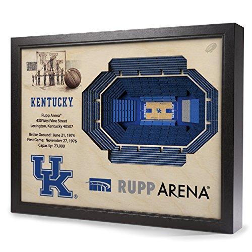 Sportula NCAA Kentucky Wildcats 25-Layer StadiumView 3D Wall Art -
