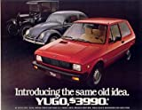 1986 YUGO GV with VW BEETLE & FORD MODEL T COLOR SALES BROCHURE - USA !!