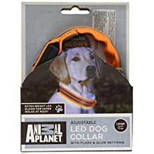 ANIMAL PLANET LED DOG COLLAR WITH FLASH AND GLOW SETTINGS
